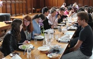Students on an Outreach visit to University College Oxford