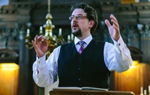 Univ's Director of Music Giles Underwood in the College Chapel