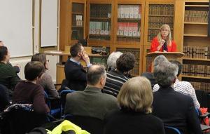 Professor Anna Vignoles presenting the University College Annual Access Lecture