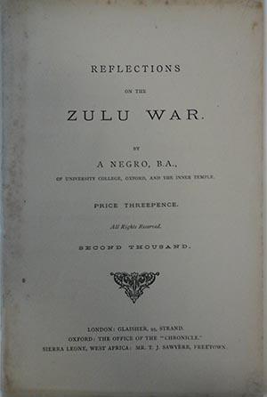 Reflections on the Zulu War