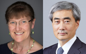 Professor Katharine Ellis, FRS and Professor Hyun Song Shin