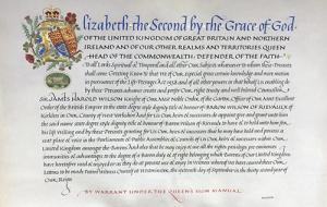 Harold Wilson proclamation