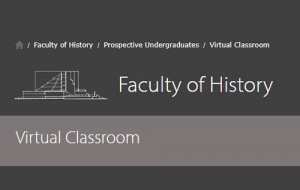 Button link to website Cambridge History Virtual Classroom