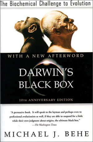 Button link to book review of Darwin's Black Box