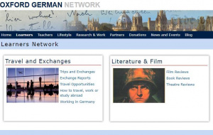 Button link to website Oxford German Network