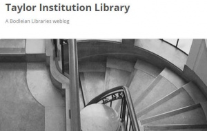 Button link to website Taylor Institution Library Blog