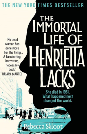 Button link to book review of The Immortal Life of Henrietta Lacks
