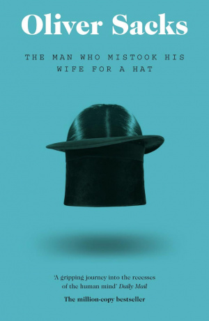 Button link to book review of The Man Who Mistook His Wife for a Hat