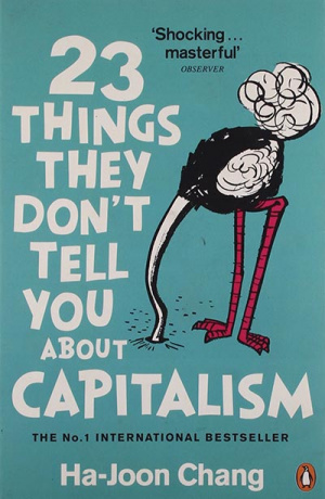 Button link to book review of 23 Things They Don't Tell You About Capitalism