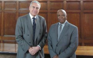 Sir Ivor Crewe with Festus Mogae