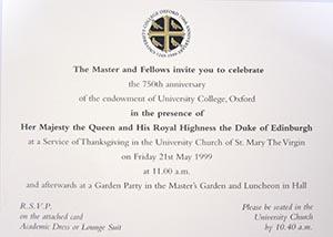 Univ A royal visit remembered