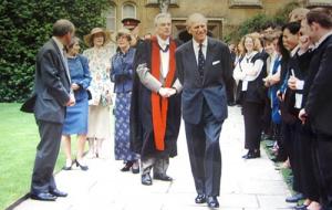 Univ A royal visit remembered 05