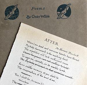 Univ Forging Oscar Wilde