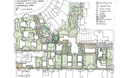 Sketched plan by Kim Wilkie