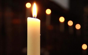 Candle in Univ Chapel