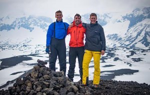 The expedition team on the Northern edge of the Vatnajökull icecap