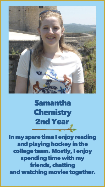 Samantha - Chemistry - 2nd Year