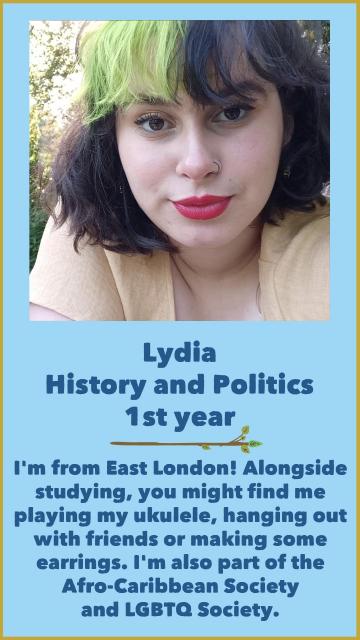 Lydia - History & Politics - 1st Year