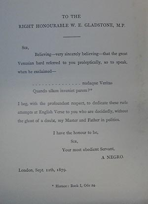 Dedication page to W.E. Gladstone in Reflections on the Zulu War