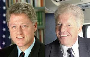 Bill Clinton and Dennis Quaid