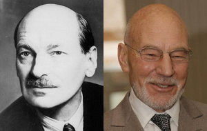 Clement Attlee and Patrick Stewart