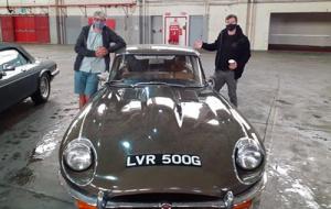 Aspire Volunteers with vintage car
