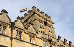 Pride flag flies from Univ's flagpole