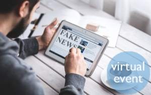 Tablet with fake news article