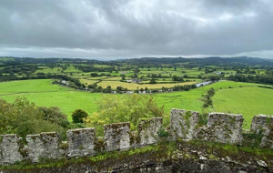 views of the countryside from the Dinefwr Castle