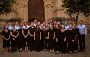 Ethan with the choir on tour