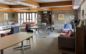 interior of The Weir Common Room with pingpong table