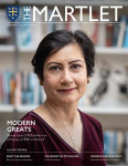 Shazia Azim on the cover of The Martlet Issue 13