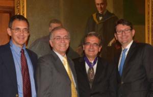 Professor Ares Rosakis receiving Horace Mann Medal
