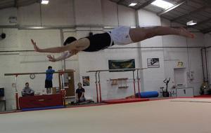 Lewis Walker in mid-air