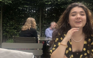 Toni in pub garden