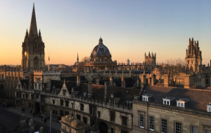View across Oxford from Univ tower